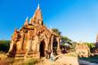 Leinwanddruck Bild - Family in Bagan Myanmar