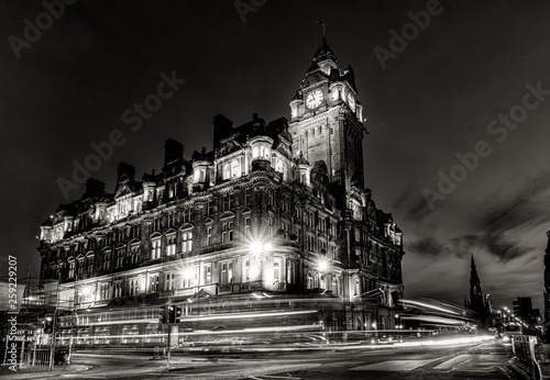 Edinburgh city and Night, Long Exposure shots, Scotland Uk, Traveling in Europe Wallpaper Mural