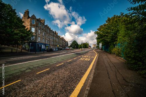 Edinburgh Streets View, Scotland Uk, Canvas Print