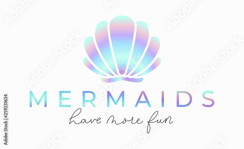 Obraz na płótnie Mermaids have more fun inspirational lettering card