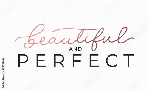 Foto Beautiful and perfect inspirational lettering card
