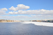 View of the Neva river in the center of St. Petersburg.