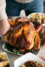 Thanksgiving: Man Placing Turk...