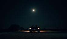 1965 Mustang Convertible Under The Moonlight