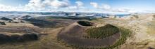 Aerial Panorama Of Khorgo Uul Volcano, Mongolia