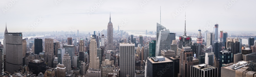 Fototapety, obrazy: Daylight panorama of New York from the Top of the Rock