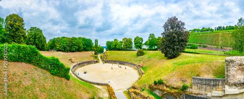 An old roman amphitheater in Trier, Germany Fotobehang