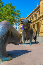 Statues Of A Bear And A Bull I...