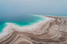 Aerial View Of The Cost Of The Dead Sea. Israel