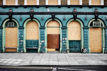 Closed And Boarded Up Public H...