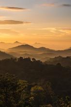 Sunrise Over The Mountains In Ella, Sri Lanka.