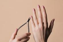 Woman Doing Manicure