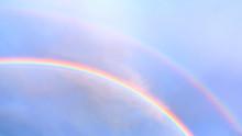 Double Rainbow In The Blue Sky...