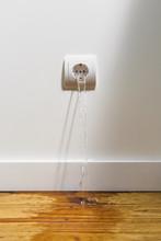 Plug Spitting Water