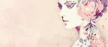 Watercolor Abstract Portrait O...