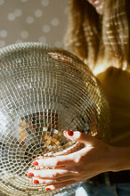Close Up View Of Disco Ball He...