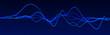 canvas print picture - Sound wave element. Abstract blue digital equalizer. Big data visualization. Dynamic light flow. 3d rendering.