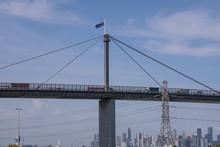 Westgate Bridge Entrance Into Melbourne City