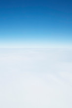 Sky Above The Clouds Background With Copyspace