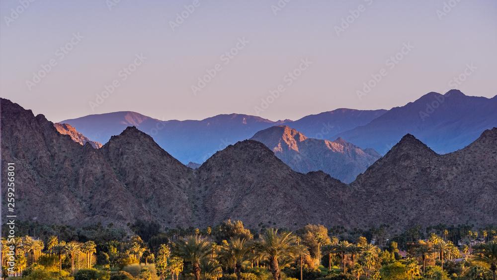 Fototapety, obrazy: Sunset Landscape in Coachella Valley, Palm Desert, California