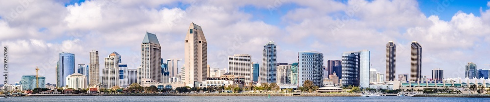 Fototapety, obrazy: Panoramic view of the downtown San Diego skyline, California