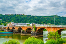 Roman Bridge In Trier, Germany