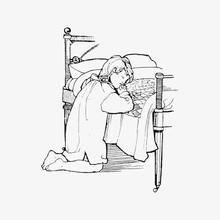 Night Prayers Vintage Drawing