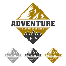 Mountain Peak Adventure Logo, ...