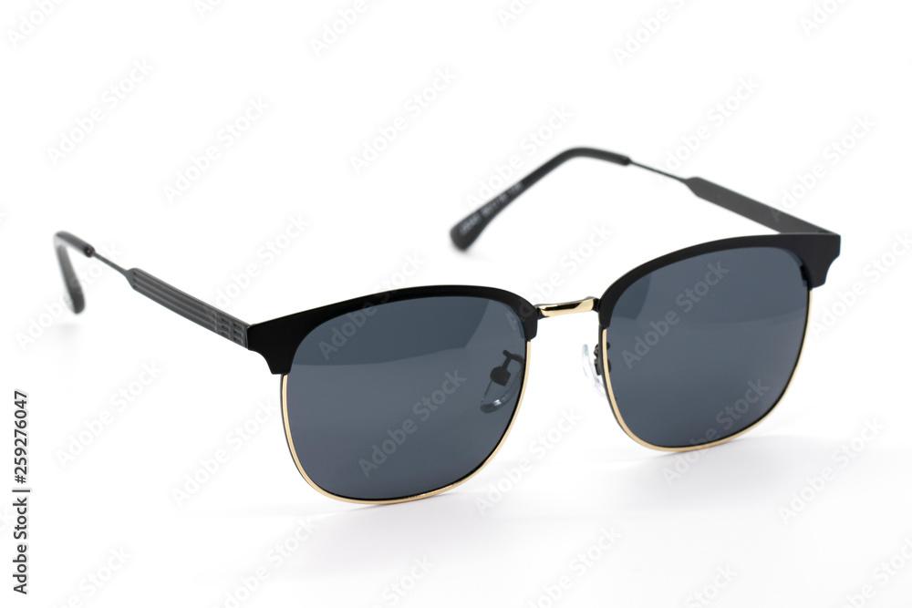 Fototapeta Image of modern fashionable sunglasses isolated on white background, Glasses.
