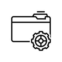 Black Line Icon For Setup Provision