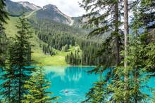 Kayaker In Emerald Lake, Canada