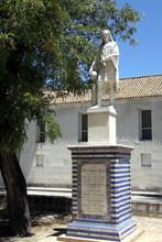 Monument To Christopher Columbus In The Monastery Of Santa Maria De Cuevas Seville