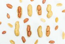 Peeled Peanuts Isolated On Whi...