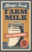 Farm Milk From Cow. Dairy Food...