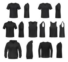Women Black Shirt, Polo, Sweatshirt And Tank Top
