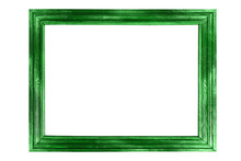 Beautiful Green Frame Isolated On White Background