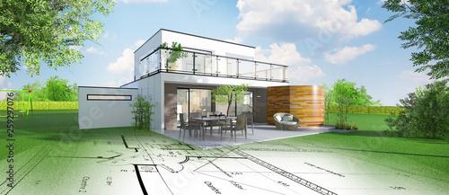 Projet de construction d'une maison individuelle d'architecte #259297076