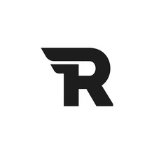 Vector Logo Letter R Double Wing