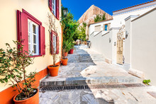 Athens, Greece - Plaka In Monastiraki