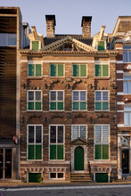 The Rembrandt House In The City Centre Of Amsterdam. The House Used To Be The Home And Studio Of Painter Rembrandt Van Rijn. It Nowadays Serves As A Museum In His Honor.