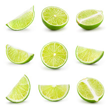 Lime Isolated On White. Collec...