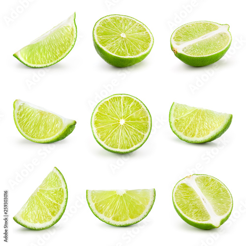 Lime isolated on white Fototapet