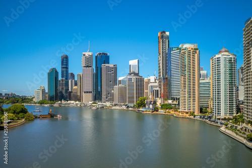 Spoed Foto op Canvas Abu Dhabi Brisbane skyline, capital of Queensland, Australia