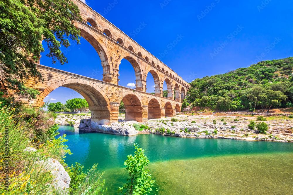 Fototapeta Pont du Gard, Provence in France