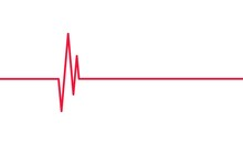 Red Heartbeat Line. Cardiogram...