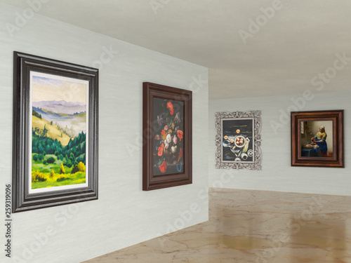 3D image of the art museum Poster Mural XXL
