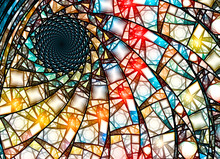 Colorful Stained Glass Fractal In Golden Ratio