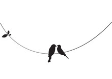 Birds On Wire, Wall Decals, Co...