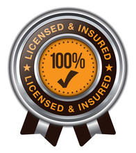 Licensed Insured Badge With Ribbons