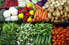 Various Organic Vegetables, Farmers Market